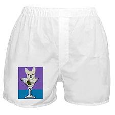 Fawn French Bulldog Martini Boxer Shorts