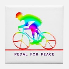 Cute Bicycle racing Tile Coaster