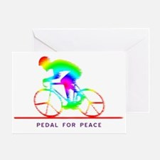 Cute Bicycle race Greeting Card