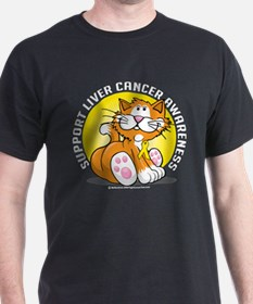 Liver Cancer Cat T-Shirt