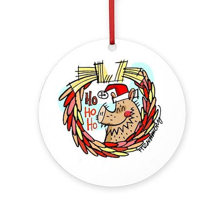 Ho-ho-ho-javelina ornament (round)