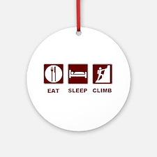 eat sleep climb Ornament (Round)