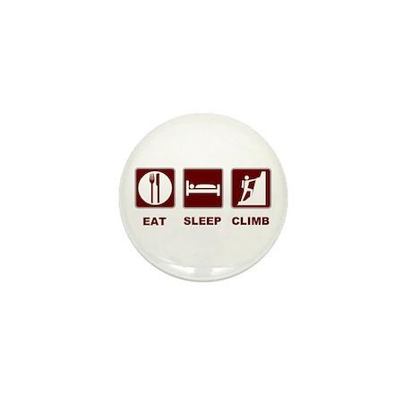 eat sleep climb Mini Button (10 pack)