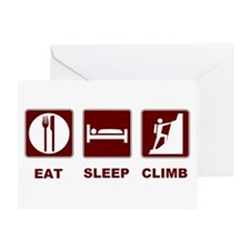 eat sleep climb Greeting Card