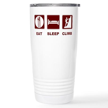 eat sleep climb Stainless Steel Travel Mug