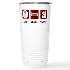 eat sleep climb Travel Coffee Mug
