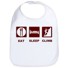eat sleep climb Bib