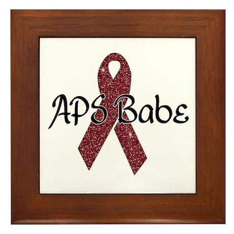 APS Babe Framed Tile