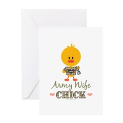 Army Wife Chick Greeting Card