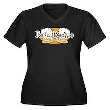 Regal Beagle Women's Plus Size V-Neck Dark T-Shirt