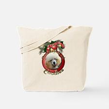 Christmas - Deck the Halls - Poodles Tote Bag
