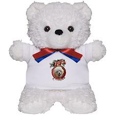 Christmas - Deck the Halls - Poodles Teddy Bear