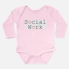 Social Work Hearts Long Sleeve Infant Bodysuit