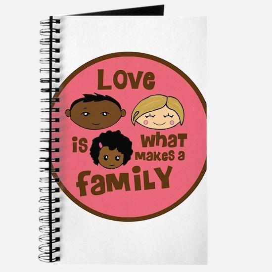 Girl African/Caucasian 2 Love Journal