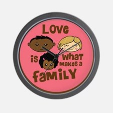 Girl African/Caucasian 2 Love Wall Clock