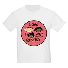 Girl African/Caucasian 1 Love T-Shirt