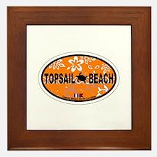 Topsail Beach NC - Oval Design Framed Tile
