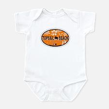 Topsail Beach NC - Oval Design Infant Bodysuit