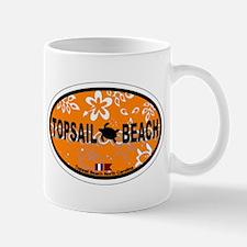 Topsail Beach NC - Oval Design Mug