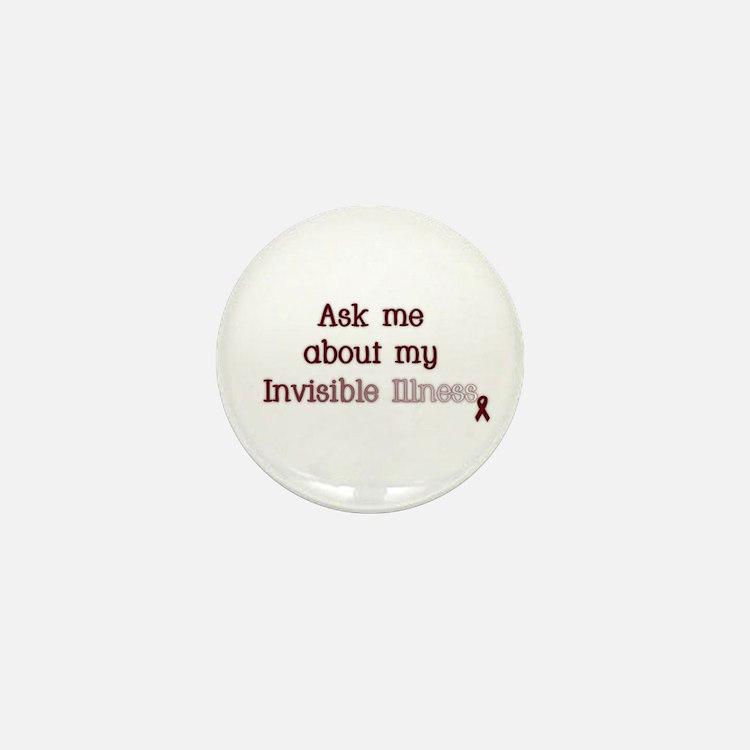 Invisible Illness - APS Mini Button