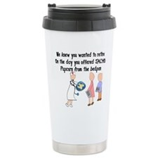 Retired Nurse Story Art Travel Mug