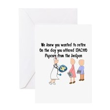 Retired Nurse Story Art Greeting Card