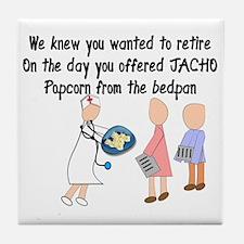 Retired Nurse Story Art Tile Coaster