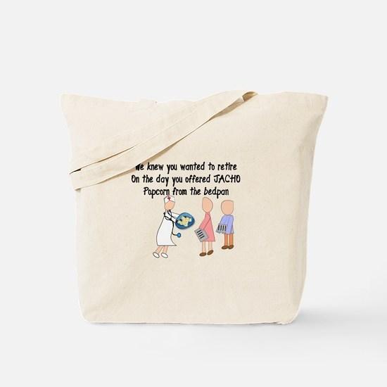 Retired Nurse Story Art Tote Bag