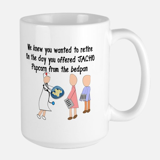 Retired Nurse Story Art Large Mug