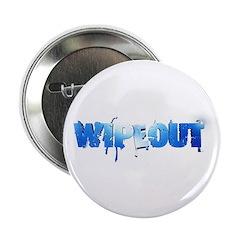 """Wipeout Logo 2.25"""" Button"""
