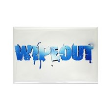 Wipeout Logo Rectangle Magnet