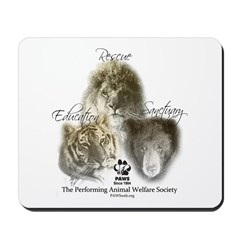 Lions, Tigers & Bears Mousepad