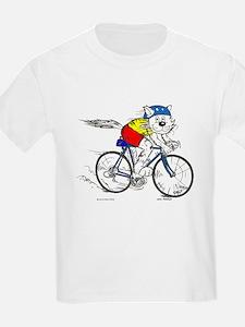 Bicycle Cat T-Shirt