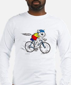 Bicycle Cat Long Sleeve T-Shirt