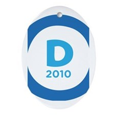 Democrats 2010 Ornament (Oval)