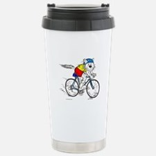 Bicycle Cat Stainless Steel Travel Mug