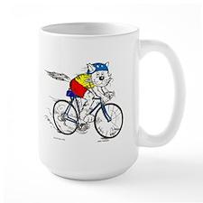 Bicycle Cat Ceramic Mugs