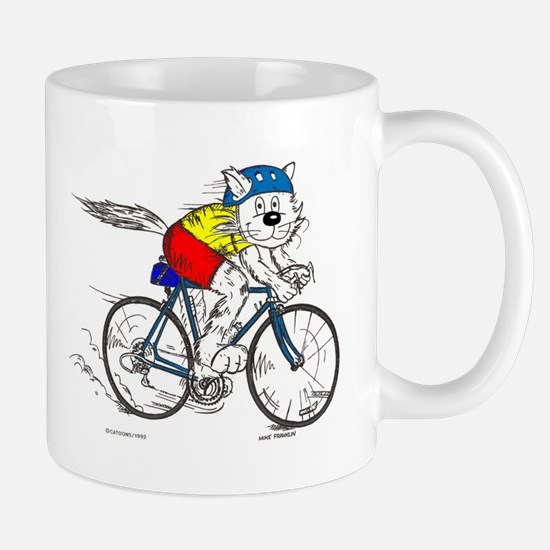 Bicycle Cat Mug