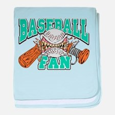 Baseball Fan(Teal) Infant Blanket
