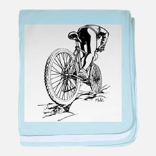 Ride. Mountain Biker Infant Blanket