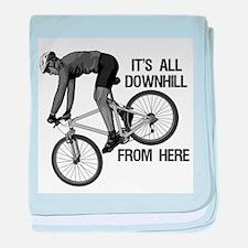 Downhill Mountain Biker baby blanket