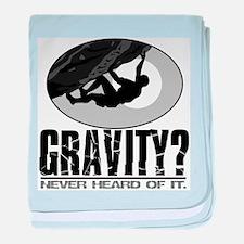 Gravity? Rock Climber baby blanket