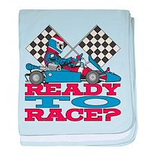 Ready to Race Go Kart baby blanket