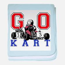 Kids Go Kart Racing baby blanket