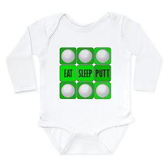 EAT, SLEEP, PUTT Long Sleeve Infant Bodysuit