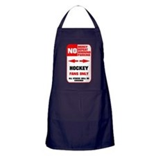 NO PARKING Hockey Sign Apron (dark)
