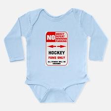NO PARKING Hockey Sign Long Sleeve Infant Bodysuit