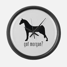 Morgan Horse Large Wall Clock
