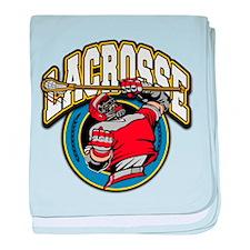 Men's Lacrosse Logo Infant Blanket