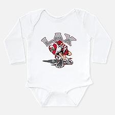 Funny High school lacrosse Long Sleeve Infant Bodysuit